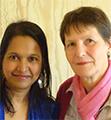 Christiane Goffard et Rehana Rymanbee